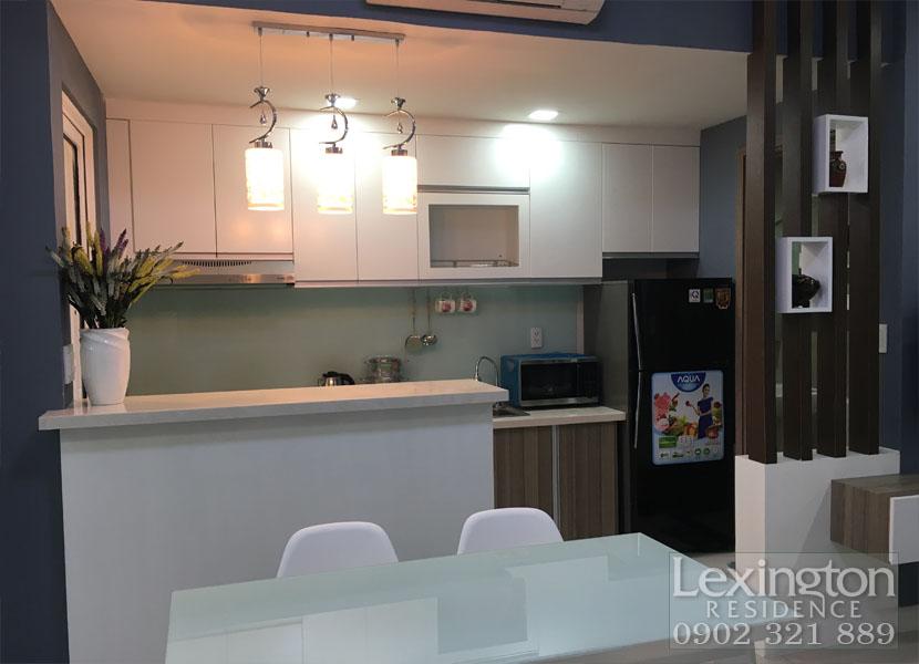 bếp chính căn hộ 1 phòng ngủ tại Lexington Residence Quận 2