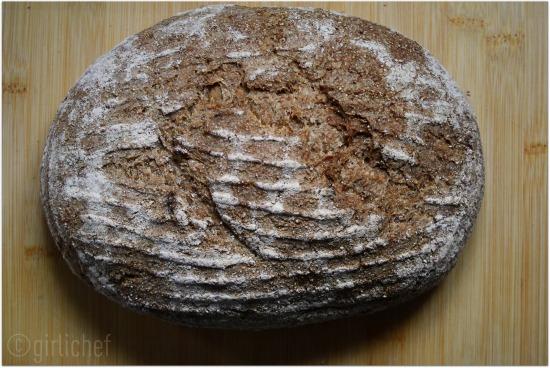 No-Knead Whole Grain Rye Bread