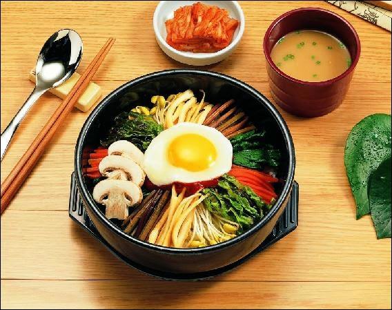 Bibimbap - arroz con verduras y carne