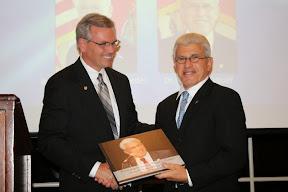 """SAME President Col John Mogge, USAF (Ret.) presenting """"Book of Bob"""""""