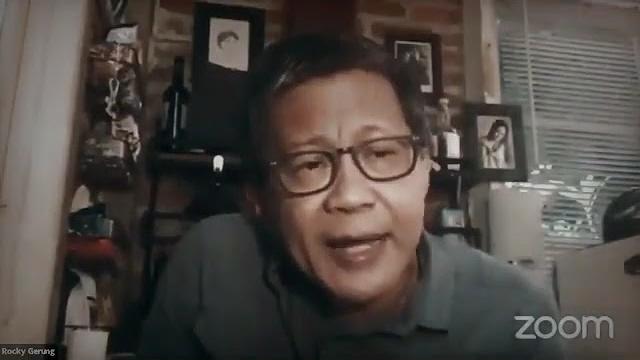 Rocky Gerung Blak-blakan Banget: Kalau Punya Otak, Harusnya Dia Mengundurkan Diri Dong
