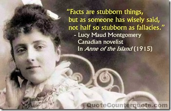 Lucy Maud Montgomery - Facts are stubborn WM2