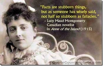 Lucy Maud Montgomery - Facts are stubborn WM2