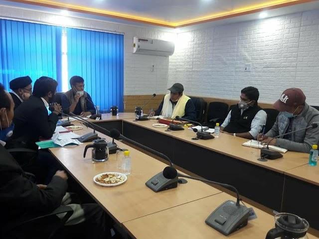 Administrative Secretary UT Ladakh calls on Executive Council of LAHDC, Kargil