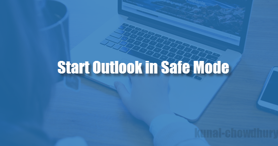 how to start outlook safe mode