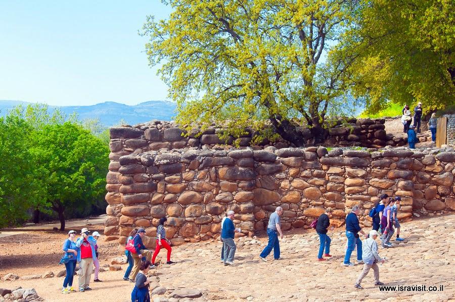 Экскурсия на руинах Древнего Тель Дан. К воротам Южной стены.