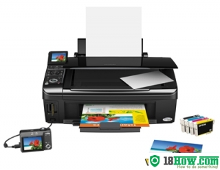 How to reset flashing lights for Epson TX405 printer
