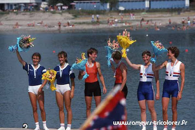 Championnat du Monde 1988 - Milan 2X seniores dames poids léger médaille d'argent Christine Liégeois