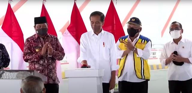 Akhirnya, Jembatan Sei Alalak Diresmikan Presiden RI Joko Widodo
