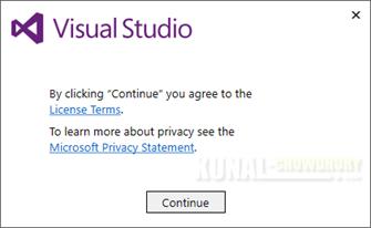 Visual Studio 2017 Installation Bootstrapper (www.kunal-chowdhury.com)