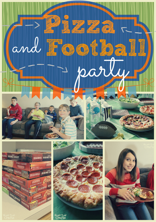 Pizza & Football Party Ideas at GingerSnapCrafts.com #gamedaygoodies #cbias #shop_thumb[3]