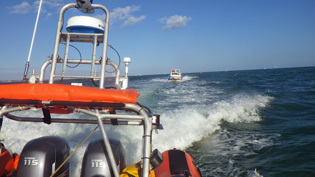 The view from the ILB - 31 August 2014.  Photo credit: Poole RNLI