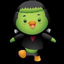 Pingüino Halloween - Frankenstein