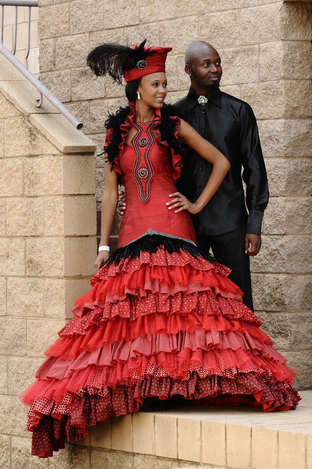 Fashion week African South traditional wedding dresses pictures for lady