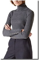 Hobbs ribbed roll neck sweater