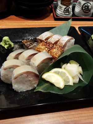 Saba sushi.