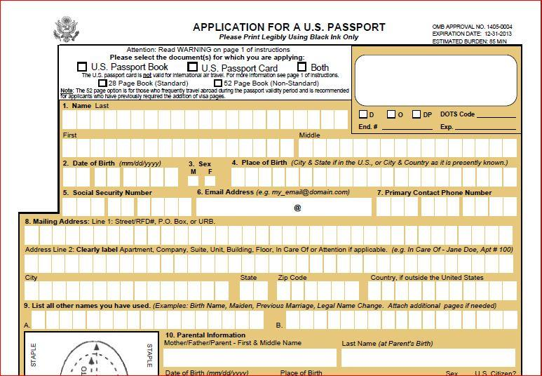 How To Apply For A New Passport In Usa Us Passport Application
