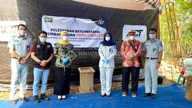 Jasa Raharja dan ACT Kalsel Bangun Family Shelter untuk Korban Banjir di HST