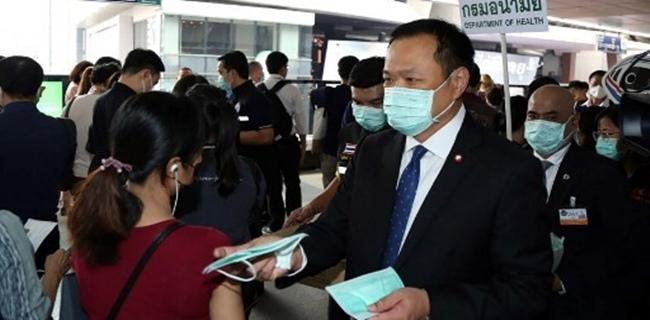 Pusing Hadapi Wabah Virus Corona, Menteri Kesehatan Thailand Geram Ada 'Farang' Tolak Masker Yang Dibagikannya