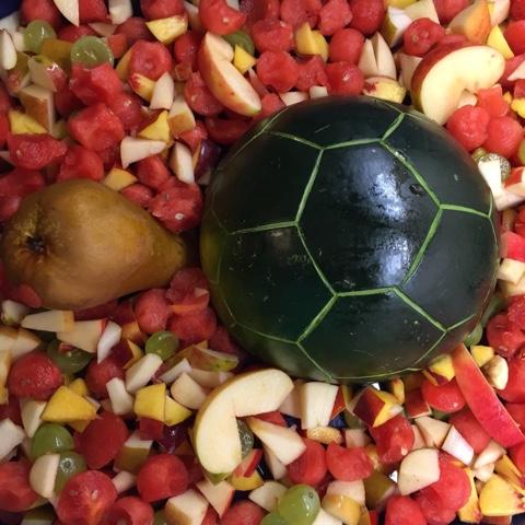Schildkröte aus Obst