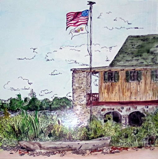 """Boathouse"" by Artist Serena Boschert."