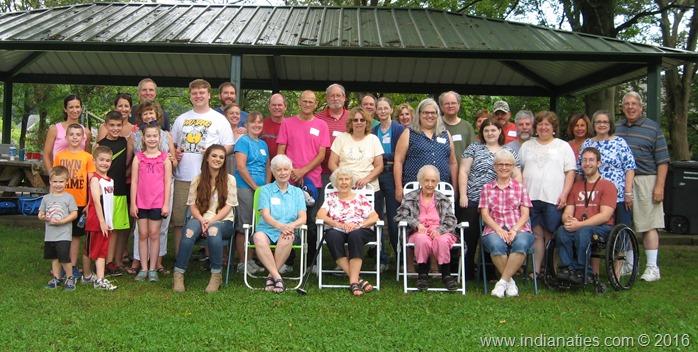 2016 Weber Kuhn Reunion, Sarah Bolton Park, Beech Grove, Indiana