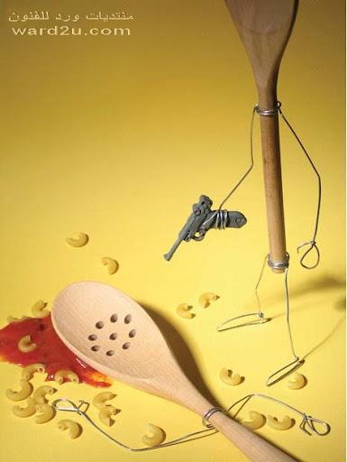 اسلاك واغراض فى تصورات فنان مبدع