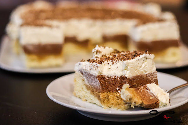 ciasta i desery, ciasto na biszkopcie, ciasto z masą czekoladową, ciasto z masą śmietanową, ciasto czekoladowe, ciasto na weekend, szybkie ciasto, łatwe ciasto
