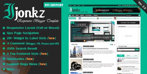 Ijonkz v2.0 – Responsive Magazine/News Blogger Template