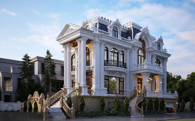 Mẫu thiết kế biệt thự phong cách cổ điển 2021 tại thành phố Nam Định