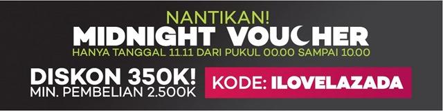 voucher tengah malam pada online revolution 11-11 lazada