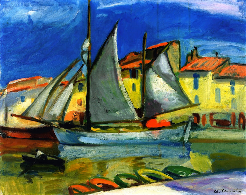 Charles Camoin - Sail Boat in Port Cassis