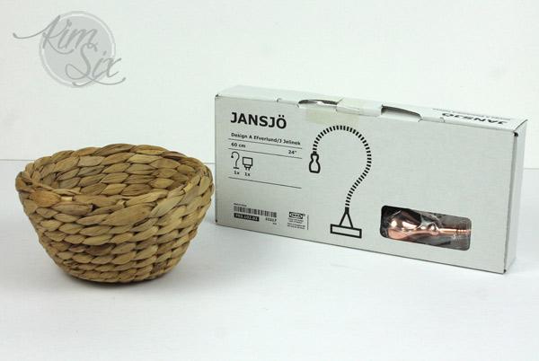 Ikea Jansjo hack with lamp shade