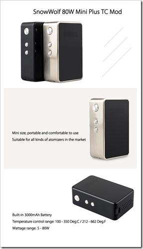 1473324548293908 thumb%25255B3%25255D - 【MOD】「SnowWolf 80W Mini Plus TC Mod」大容量3000mAh内蔵のTC対応MOD!