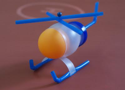 Brinquedo - helicóptero reciclado