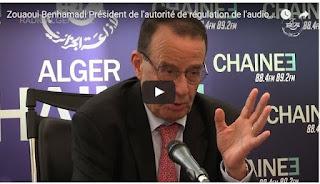 Vidéo: Zouaoui Benhamadi Président de l'autorité de régulation de l'audiovisuel