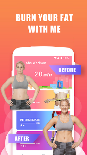 Abs Training-Burn belly fat Fitness app screenshot 1 for Android