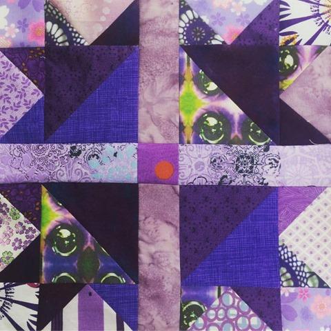 geese tracks purple