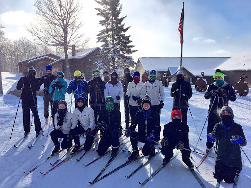 Holy Family Catholic Skiers ready for the afternoon ski