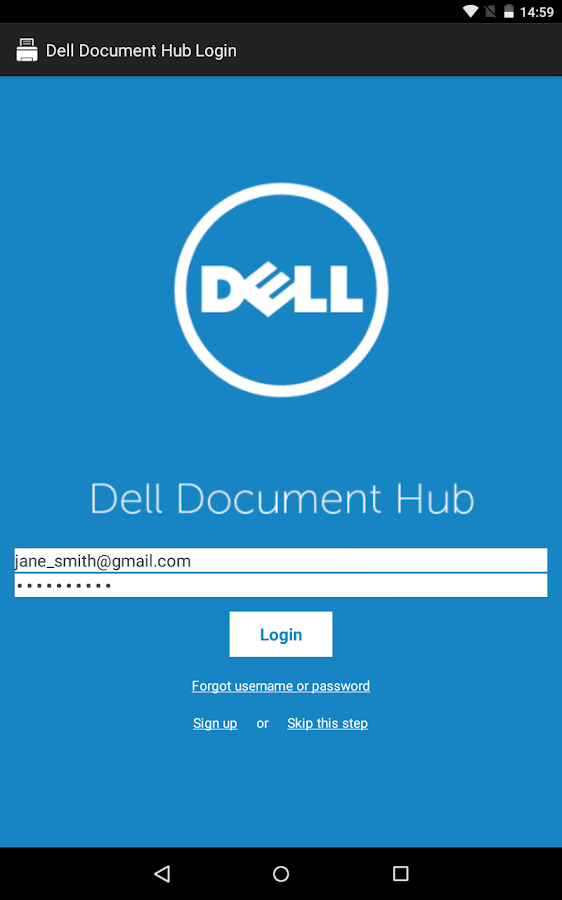 Dell Document Hub- screenshot