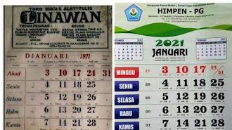 """Jagat Dunia Maya Heboh Akibat """" Postingan Kalender 1971 """""""