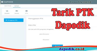 Tarik PTK Online Dapodik Versi 2022
