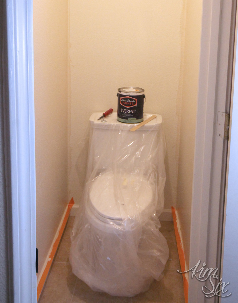 Paint Prep in Water Closet