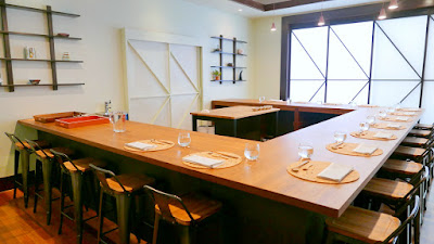 Nodoguro has moved to a new location at 2832 SE Belmont. The new location is a blend of minimalist Japanese aesthetic with Western modern touches