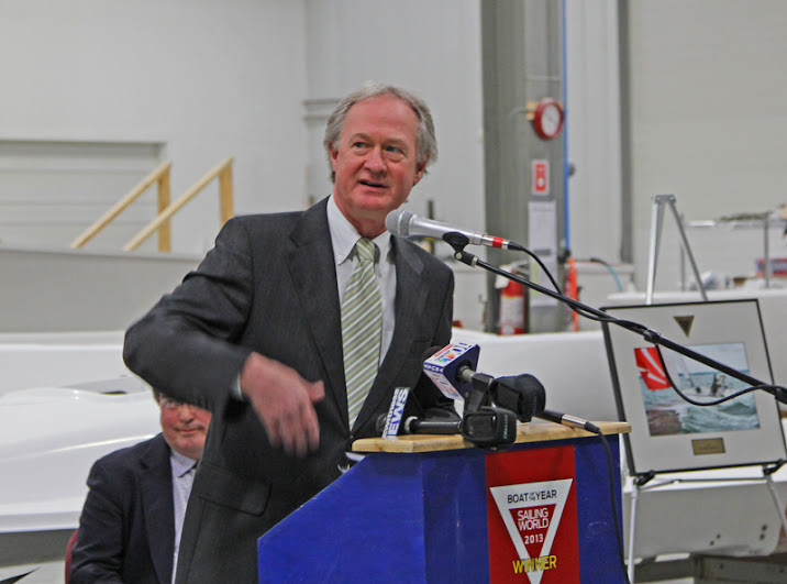 Rhode Island Governor- Lincoln Chafee- J/70 Sailing World Awards