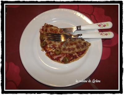 Crepizza aux lardons