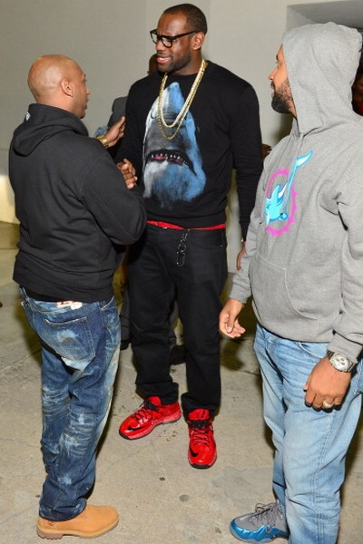 King8217s Feet Nike LeBron X RedBlack Player Exclusive