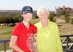 Tournament winner Erynne Lee, right, and Kathy Whitworth