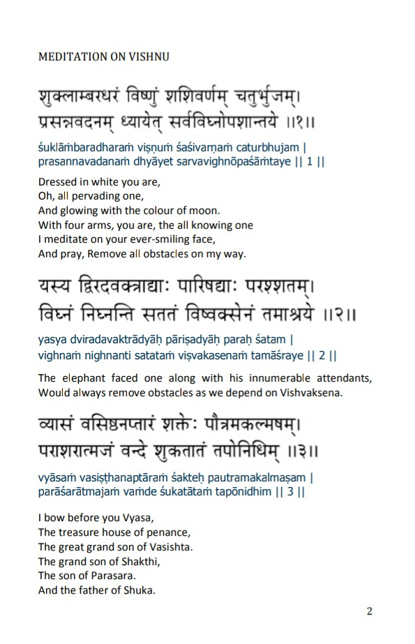 VishnuSahasranam With English end Sanskrit