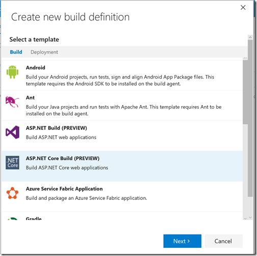build-definition-wizard-template-selection